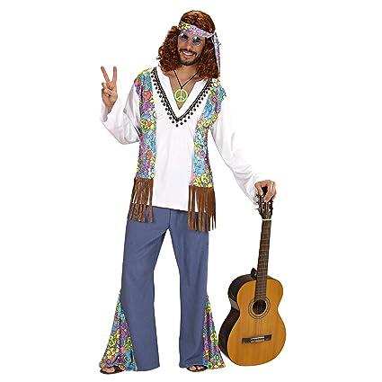 WIDMANN Widman - Disfraz de Hippie años 60s para Hombre, Talla L (56023)