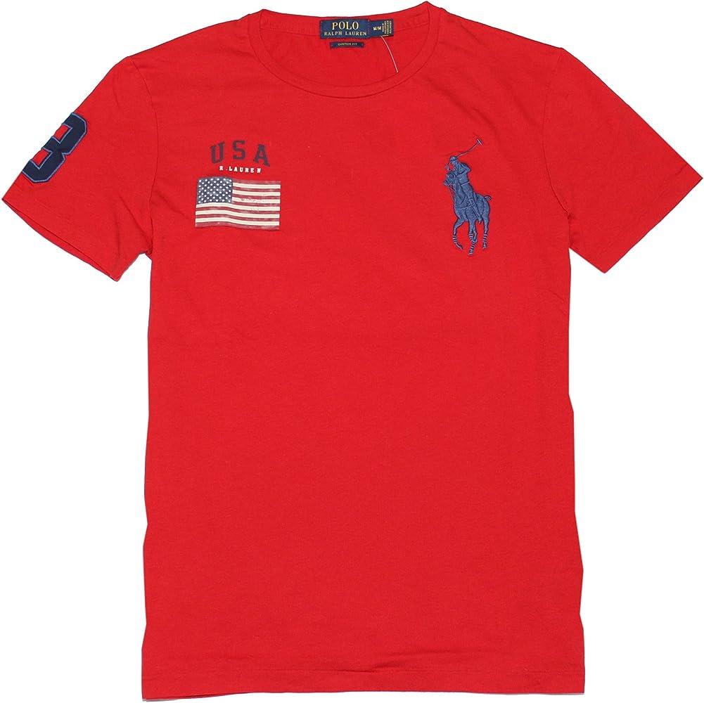 Polo Ralph Lauren – Hombre Custom Fit Big Pony – Bandera de EE. UU ...
