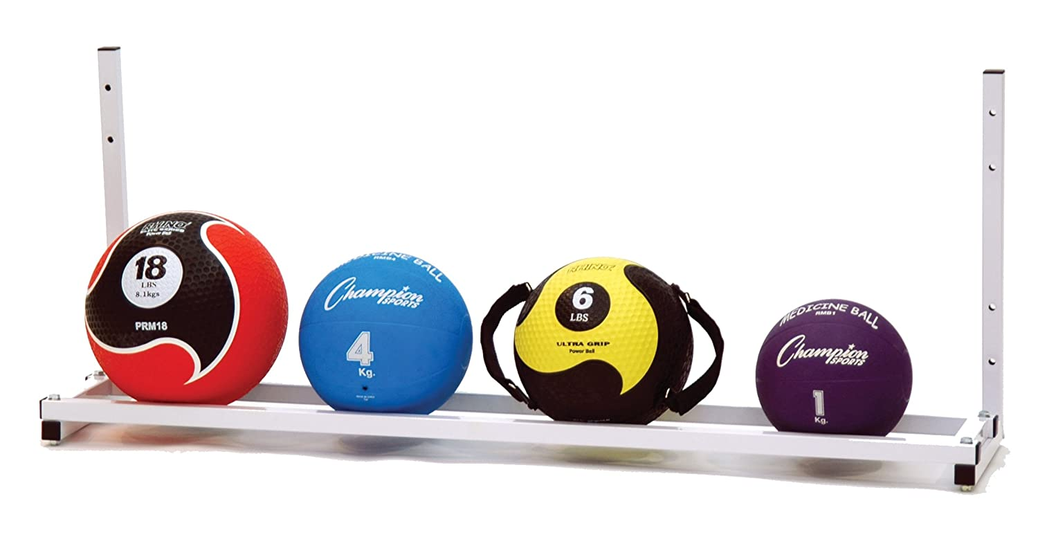 Champion Sports Wall-Mount Medicine Ball Storage Rack