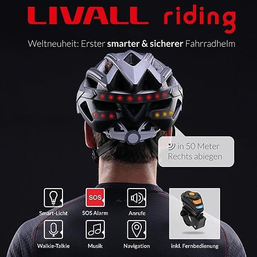 Livall LIBH60WH - Casco para bicicleta inteligente: Amazon.es: Salud y cuidado personal