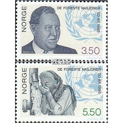 Norvège 1187-1188 (complète.Edition.) 1995 50 Années Nations unies (Timbres pour les collectionneurs)