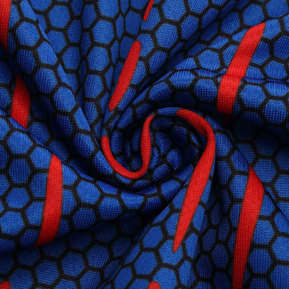 YXRL T-Shirt Sports Uomo Movie Spider-Man T-Shirt 3D Stampa Digitale Girocollo Hip-Hop Large Size Paio Manica Corta Blue-XXXXL