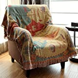 Amazon pure country weavers old world map blanket tapestry mr fantasy decorative cotton woven tapestry throw blanket with fringes knitted chenille blanket for couch gumiabroncs Choice Image