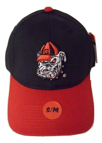 15803f597 Amazon.com : Georgia Bulldogs Structured Black/Red Cap Bulldog Head ...