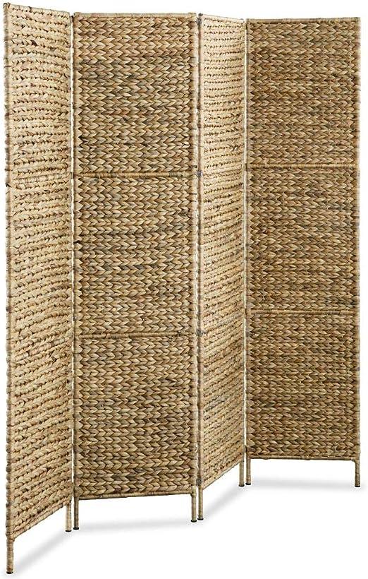 Tidyard Plegable Biombos Diseño 4-Panel,Biombo Divisor,Separador de Habitaciones Espacios Divisoria,Jacinto de Agua 160x160cm: Amazon.es: Hogar