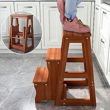 SONGTING Step stool 3 Pasos Escalera de Tijera Escalera de ...