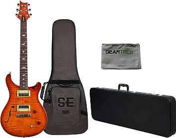 PRS SE Custom 22 Semi hueca guitarra eléctrica Vintage Sunburst w ...