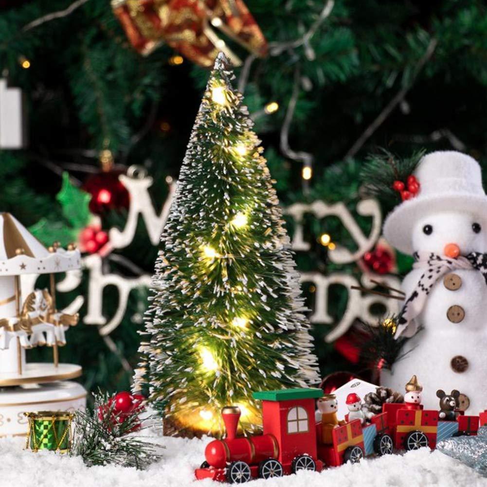 VGOODALL 34Pcs Mini Sisal Snow Frost Trees, Mini Sisal Christmas Trees Winter Snow Ornaments Tabletop Trees for Christmas Party Decor Home