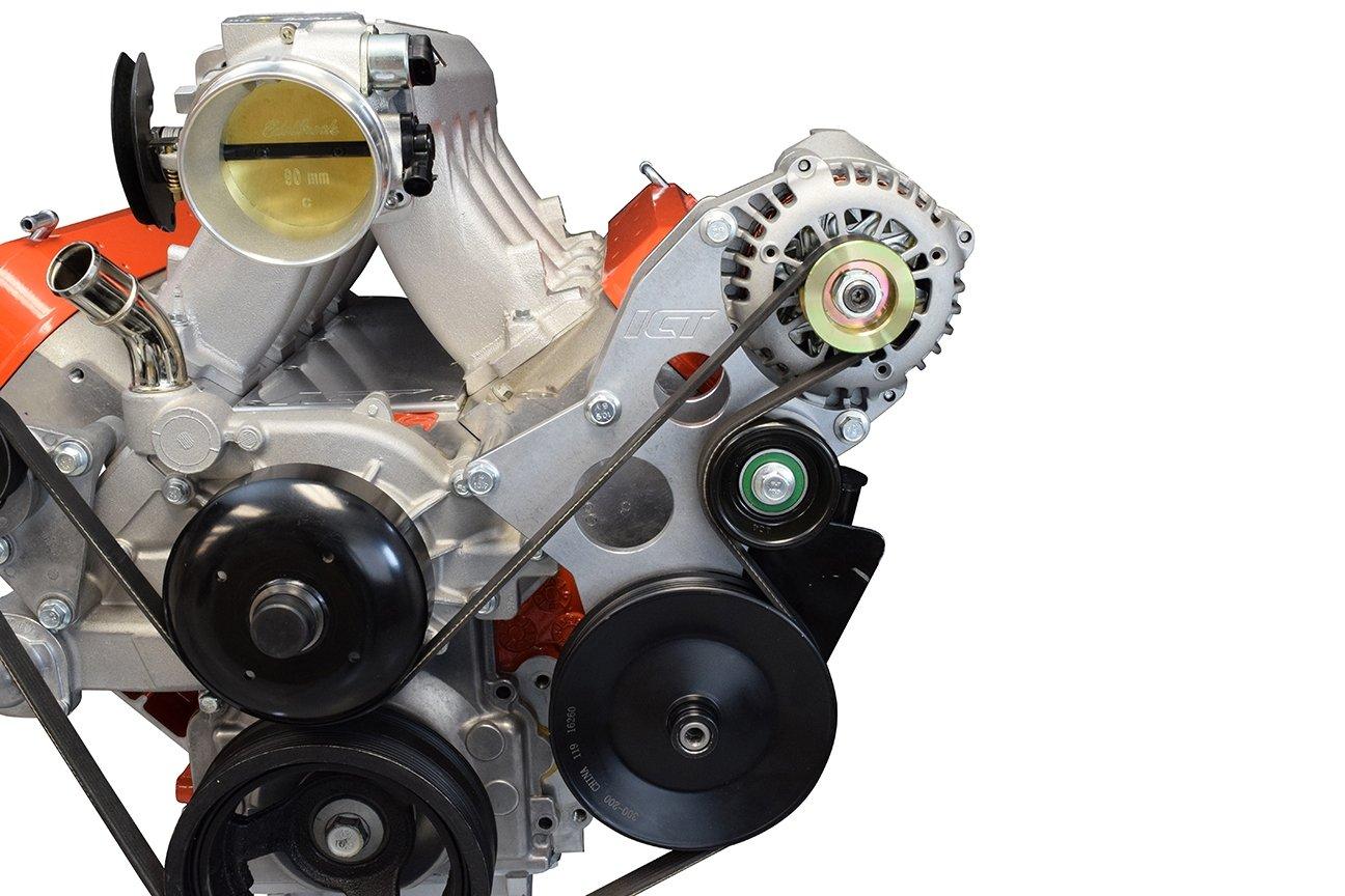 LS Truck Driver Side Alternator/Power Steering Pump Bracket LQ4 LQ9 L33 4.8L 5.3L 6.0L, 551519-3 ICT Billet