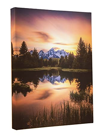 Light Up Grand Tetons Canvas Wall Art By Clever Creations | Sunset Forest  Mountain By A