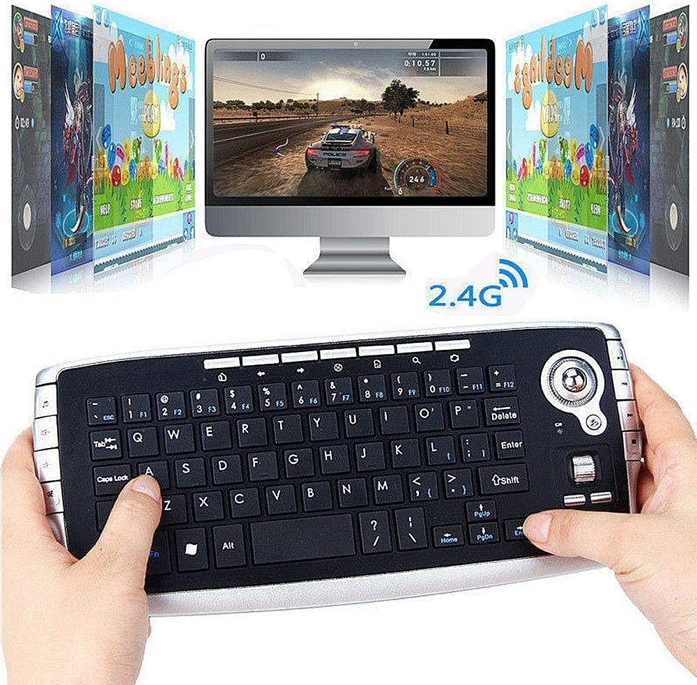 Mini 2.4G Wireless Multimedia Mouse and Keyboard Set for Home PC Gamers and Office KYLL Wireless Trackball Keyboard