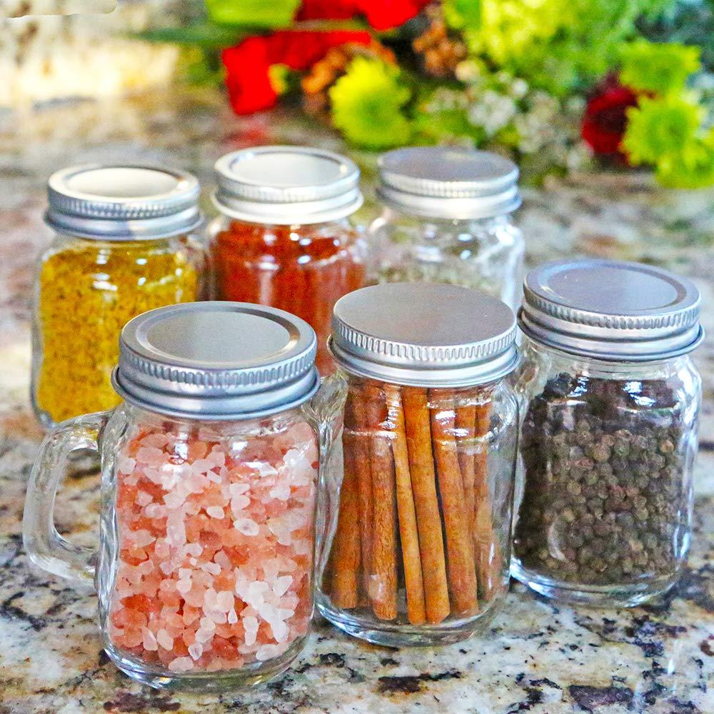 Kate Aspen 30048NA 12 oz DIY Favor set of 6 Clear Mason Jar Mug One Size