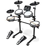 LyxJam 7-Piece Electronic Drum Kit, Professional Drum Set with Real Mesh Fabric, 209 Preloaded Sounds, 50 Play-Along…