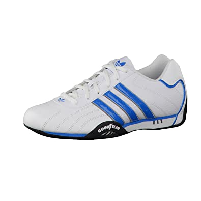 d61c63a9b7b9 adidas Originals goodyear adi racer trainers white   blue D65636  UK 11.5    Amazon.co.uk  Shoes   Bags