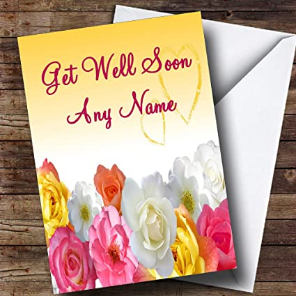 Amazon yellow flowers personalized get well soon greetings yellow flowers personalized get well soon greetings card m4hsunfo