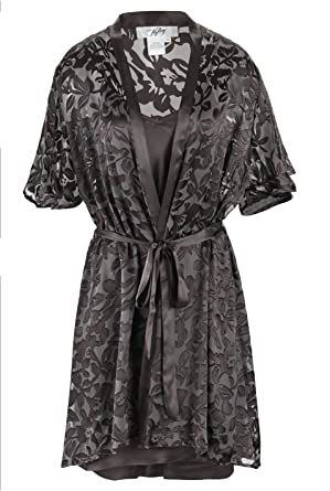 4b77064df6 Nyteez Women s Luxury Silk Nightgown and Robe Set at Amazon Women s ...