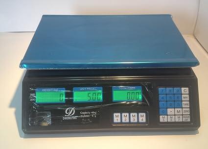 Bascula Balanza Plana bateria y Cable peso hasta 40kg Digital