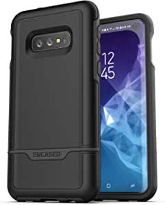 Encased Heavy Duty Galaxy S10e Protective Case (2019 Rebel Armor) Military Grade Full Body Rugged Cover for Samsung Galaxy S10 E - Black