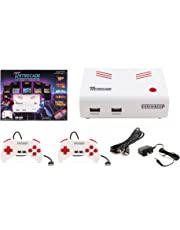 Retro-Bit Super Retro-Cade Plug and Play Game Console - Packed with over 90 Popular Arcade and Console Titles (Red/White) - Not Machine Specific;