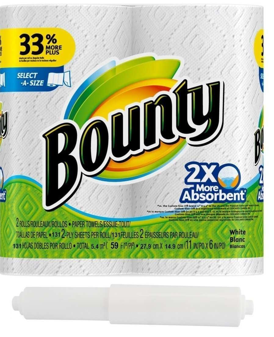 Amazon.com: Bounty Select A Size, 2 x More qALOdo Absorbent Paper Towels Roll, 11 x 5.9 Inches, White, 2 Rolls, 2 Units: Home & Kitchen