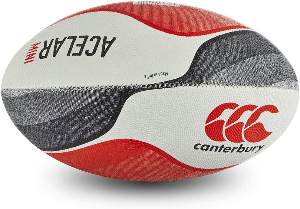 Canterbury Acelar Pelota de Rugby, tamaño Mini, Color Flag Red ...
