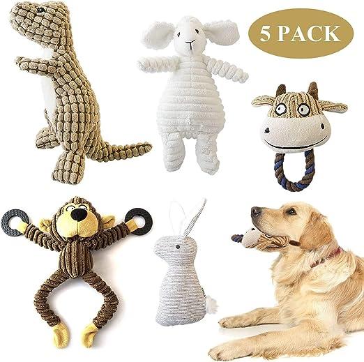 KONKY Juguetes para Perros, 5 Piezas Squeaky Toy Juguetes ...