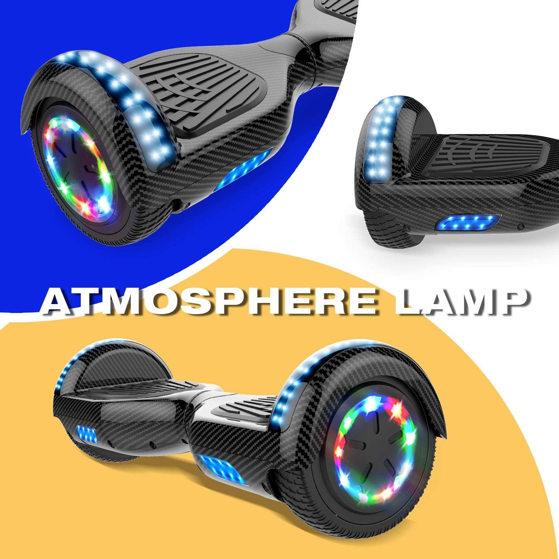 Self Balance Scotter Electrique CITYSPORTS Balance Board 6.5 Pouces Bluetooth Moteur 700W Roues LED Light