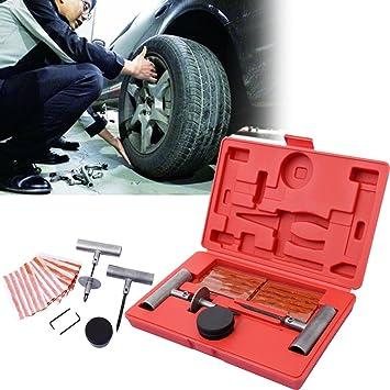 Ridgeyard 35pcs Sin Tubo Conjunto de Neumáticos de Mano Kit de Reparación de Ruedas del Vehículo Pinchazos de Neumáticos de Coche Camión con Maletín de ...