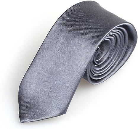 Amison hombres corbata estrecha Casual Slim sólido multicolor ...