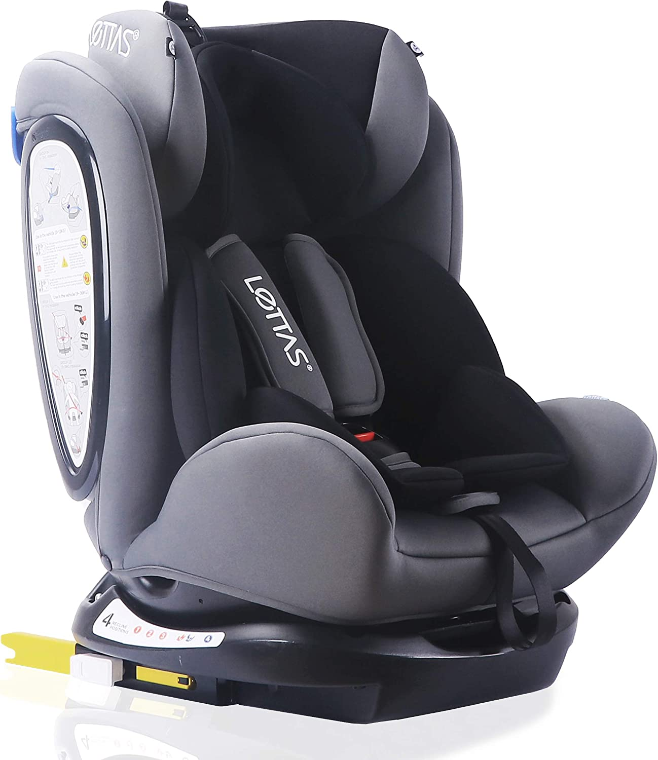 0-36 kg//0-12 Year LETTAS Convertiblle 0+1//2//3 Plus Group Combination Baby Car Seat for Child