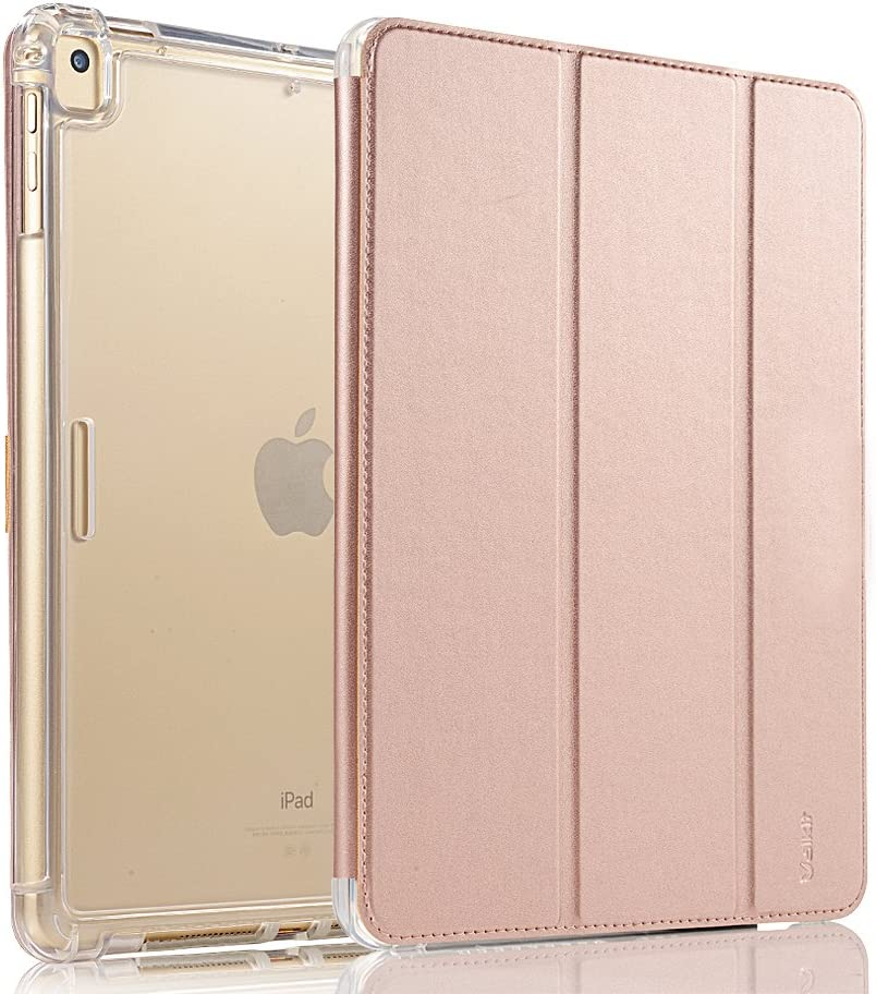Valkit for iPad Mini Case,iPad Mini 2 Case,iPad Mini 3 Case,Shockproof Protective Smart Folio Stand Protective Heavy Duty Rugged Impact Resistant Armor Cover,with Auto Sleep/Wake,Rose Gold
