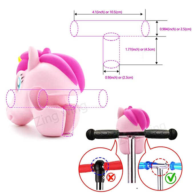 Scooter Accessories Pink Unicorn Head Toy Gifts for Toddlers Kids Girls Decoration All of T-bar Micro Mini Kick Scooter & Bike & Jump Stick,Giveaway ...