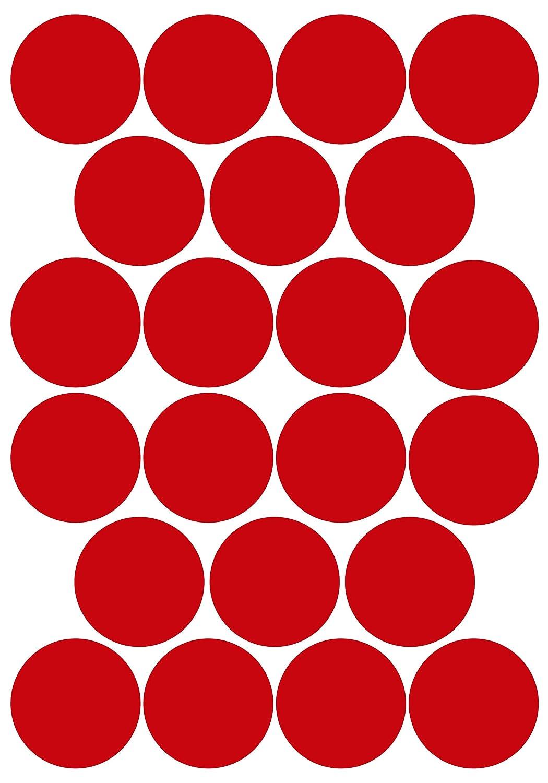 wetterfest Klebepunkte aus PVC Folie Markierungspunkte Kreise Punkte Aufkleber 10 mm, wei/ß