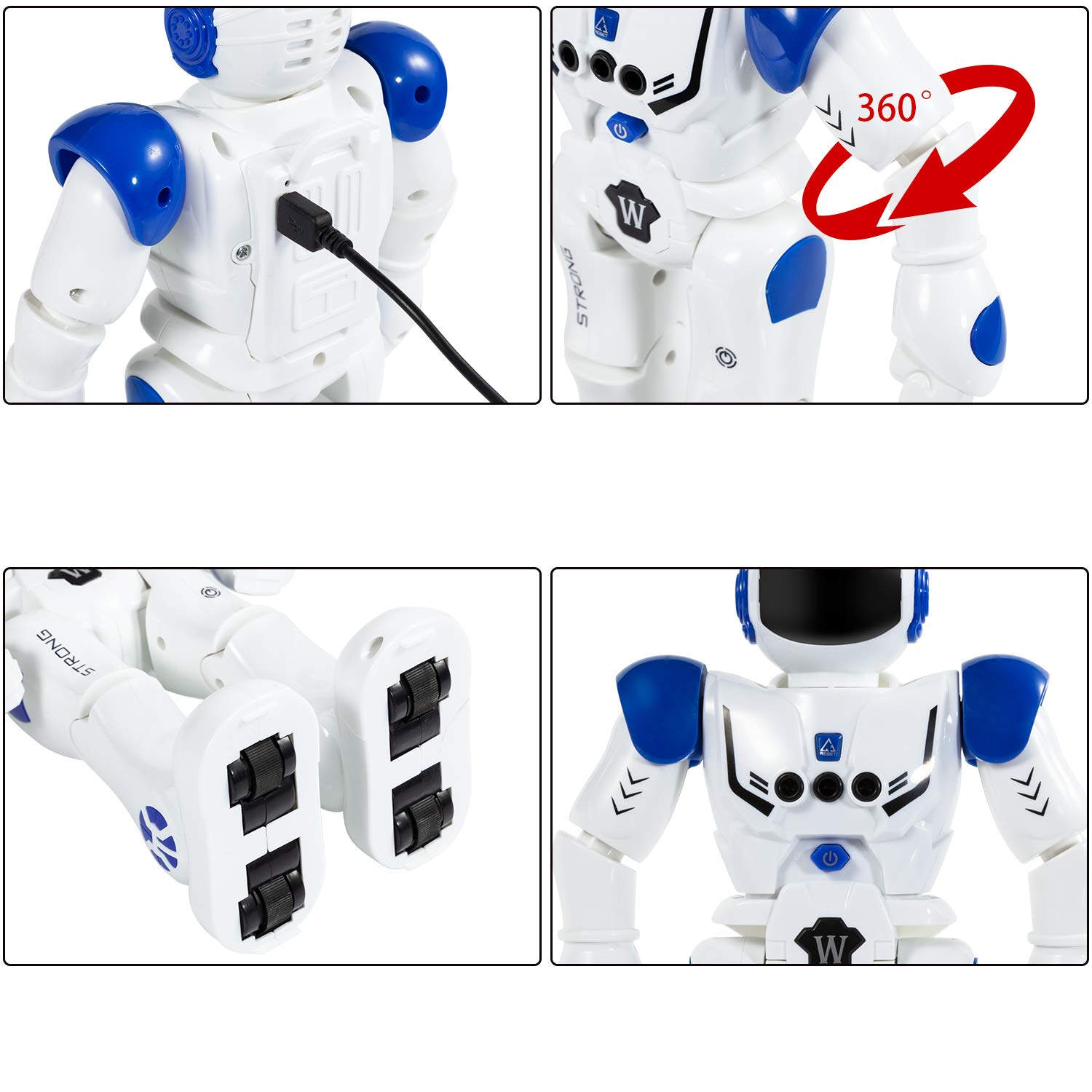 KINFAYV Smart Robot Toy - Remote Control Robot, RC Programmable Educational Robot for Kids Birthday Gift Present, Interactive Walking Singing Dancing Smart Intelligent Robotics for Kids by KINFAYV (Image #7)