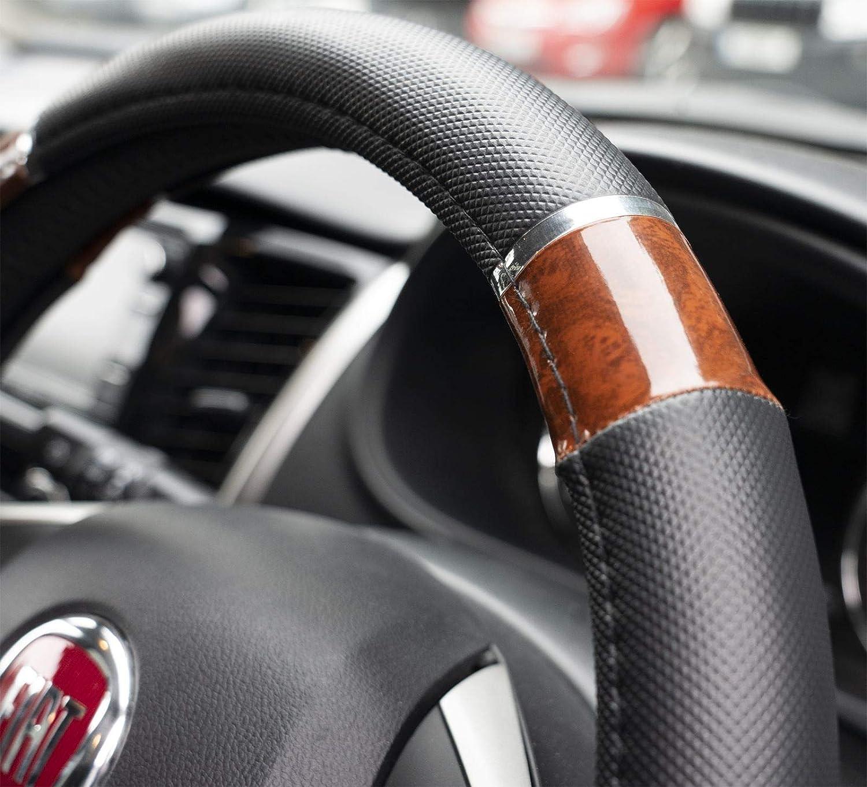 UKB4C Wood Effect /& Black Steering Wheel Cover fits Land Rover Freelander