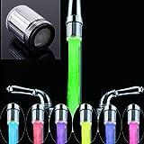 365-Shopping 2er Set Wasserhahn-Aufsatz mit automatischem Farbwechsler durch Wasserkraft - 7 LED Farbwechsler LED Shower mit Beleuchtung