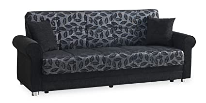 Amazon.com: Casamode Rio Grande Sofa Bed Black Chenille ...