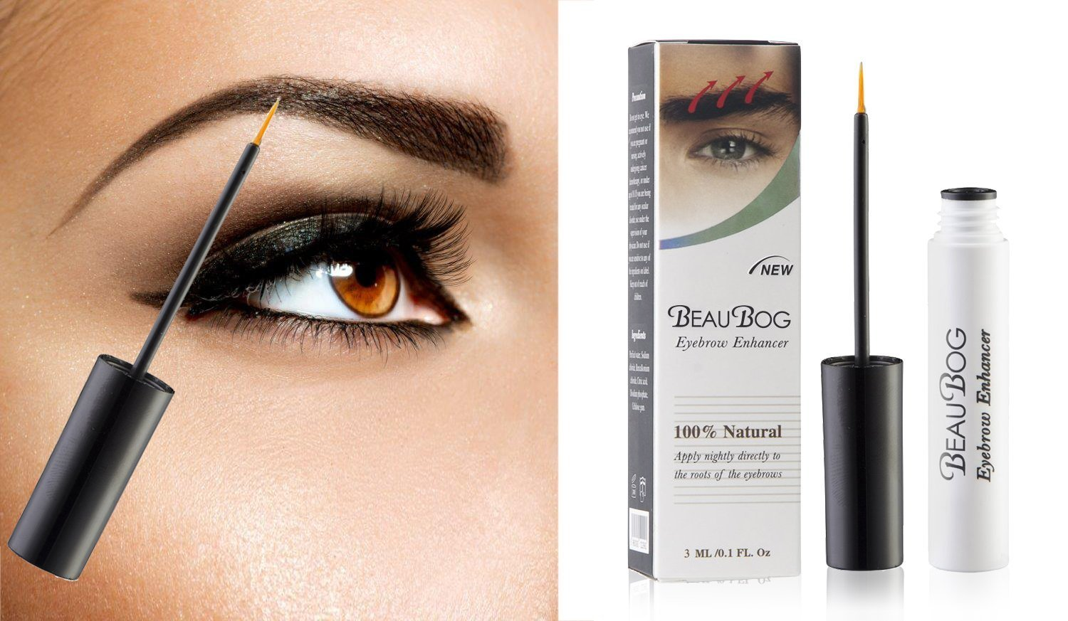 BeauBog TM Eyebrow Enhancer most powerful and advanced 100% Natural eyebrow growth Serum. Promote rapid growth and thickness of your eyebrows!!! BeauBog (TM)