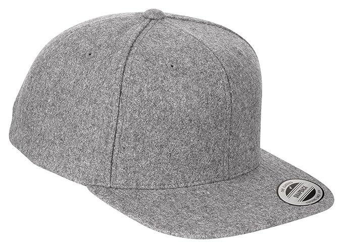 Amazon.com  Yupoong Melton Wool Snapback Cap 6689M by Flexfit  Clothing 9831c01f72d