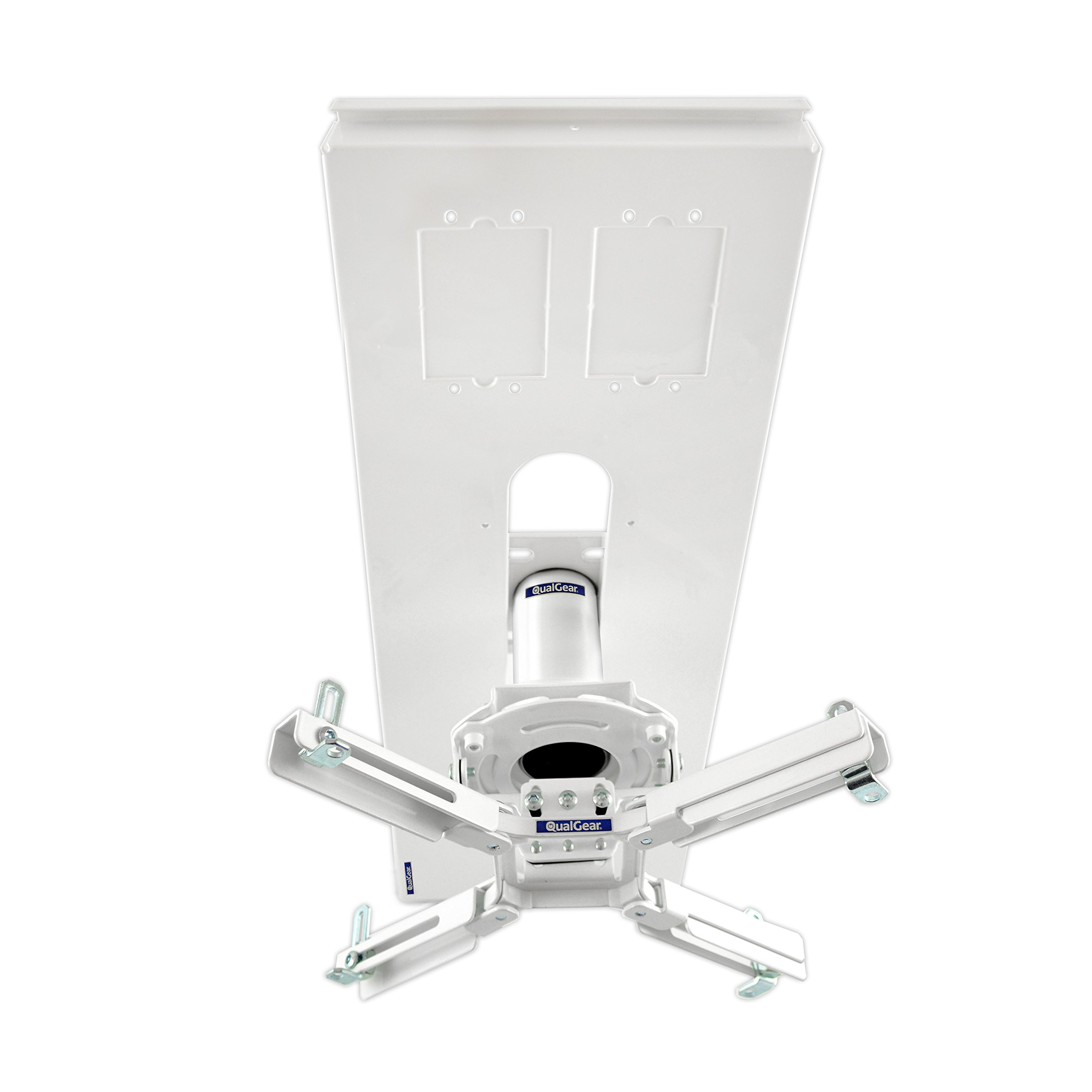 QualGear Pro-AV QG-KIT-S-3IN-W Projector Mount Kit Accessory Suspended Ceiling Adapter, 3'' 1.5'', White