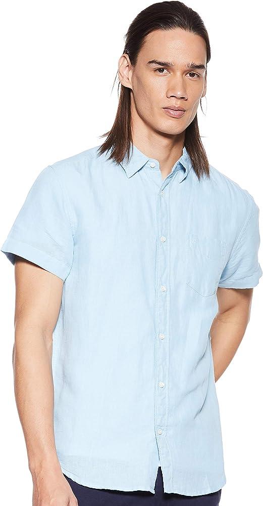 Wrangler SS 1pkt Shirt Camisa, Azul (Cerulean Ovt), Small para Hombre: Amazon.es: Ropa y accesorios