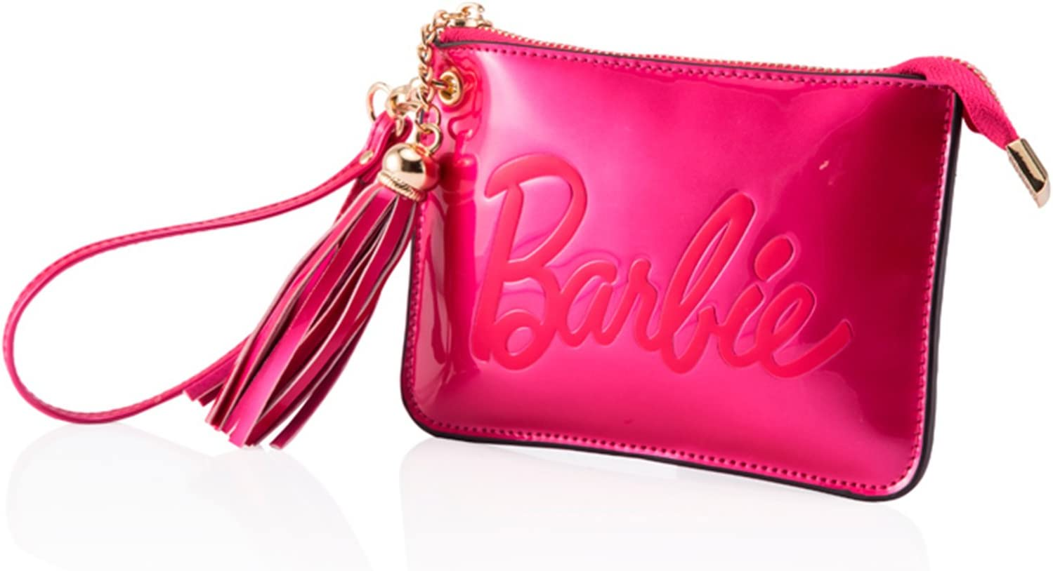 Barbie Fashion Womens Clutches Wallet Rose Red Leather Coin Purse BBFB285
