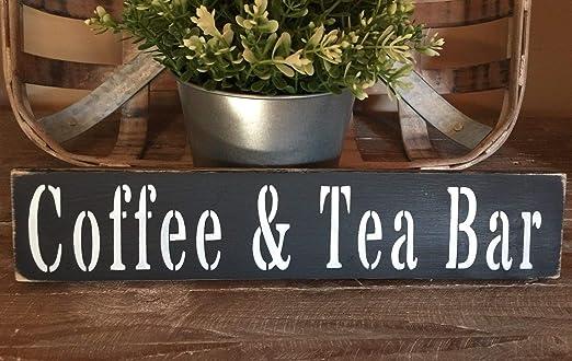 Amazon.com: Dozili - Letrero rústico de madera para café ...