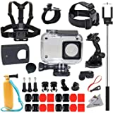 Deyard 35 in 1 Accessories Kit for Xiaomi Yi 4k Yi Lite Yi 4k Plus Action Camera Waterproof Case Housing Chest Harness Mount Wrist Head Strap Mount Floating Hand Grip Selfie Stick