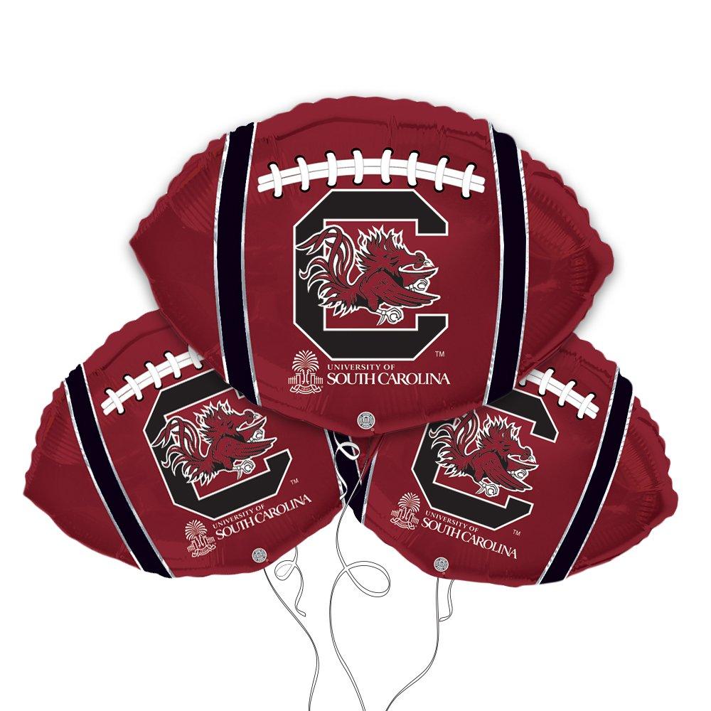 University of South Carolina Football Shaped 18'' Mylar Balloon 3pk