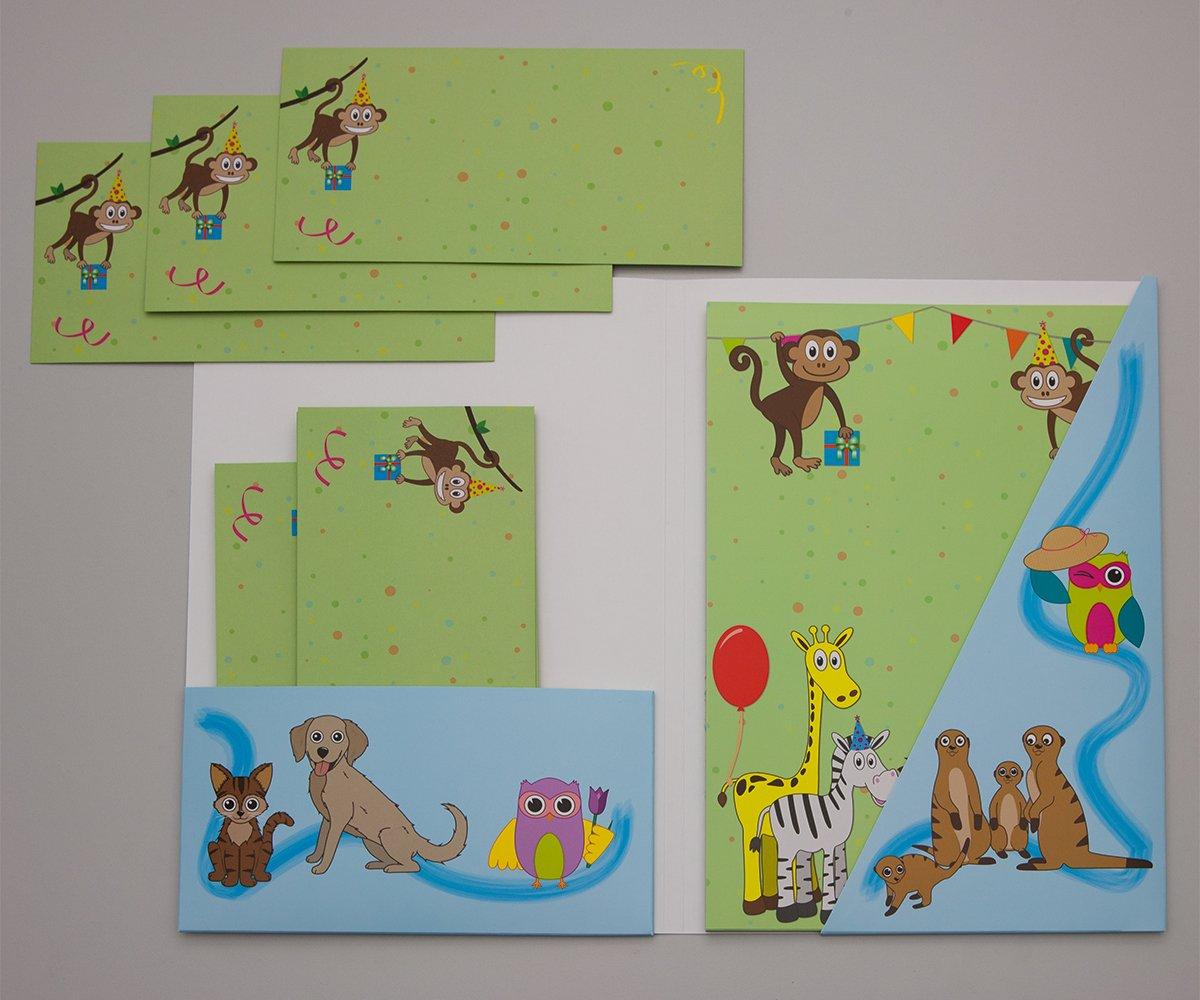 1 Briefblock Schreibblock bunte Tierwelt Format DIN A4 mit Deckblatt 7330