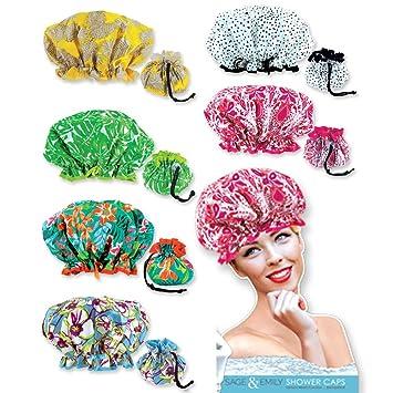 Stylish Shower Cap Satin Bouffant Pouch Hat Bath Hair Waterproof Bathing Spa New