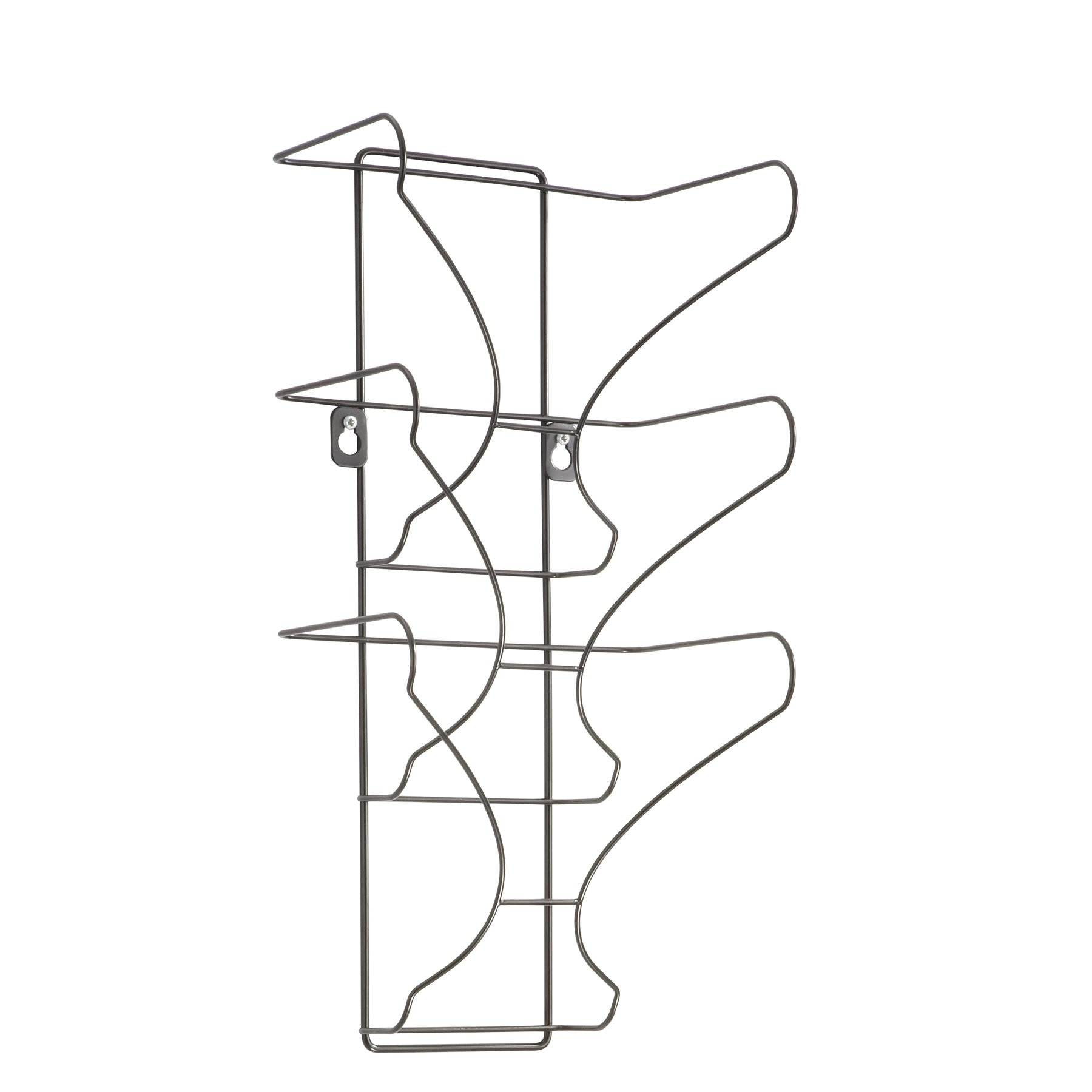 Safco Products 6430BL Wire Wall Display 3 Pocket Black 691039217530 ...