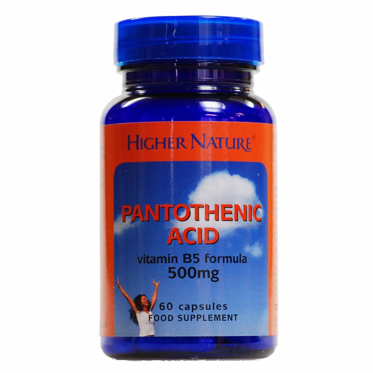 (4 PACK) - Higher Nature - Pantothenic Acid 500mg | 60's | 4 PACK BUNDLE by Higher Nature