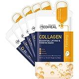 MEDIHEAL Official [Korea's No 1 Sheet Mask] - 5 Pack Collagen Essential Lifting & Firming Mask / Collagen & Peptides & Beta G
